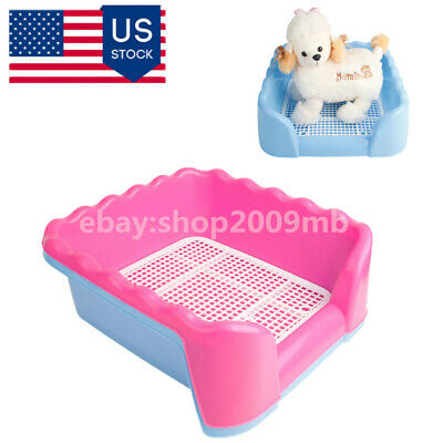 Puppy Potty Portable Pet Toilet Tray Loo Training Pad Holder+Fence and Pee Post