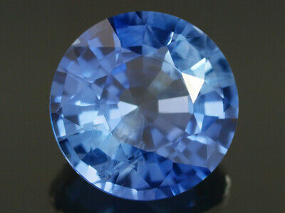 Natural Mine - Round Medium Blue Ceylon Sapphire 0.75 Ct.