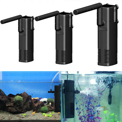 Mini Internal Aquarium Filter Water Pump Spray Air Tube Fish Tank Filtration