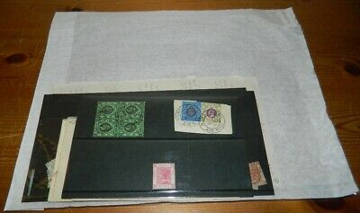 Hong Kong Stamps On Old Club Leaves, Packets, Cards