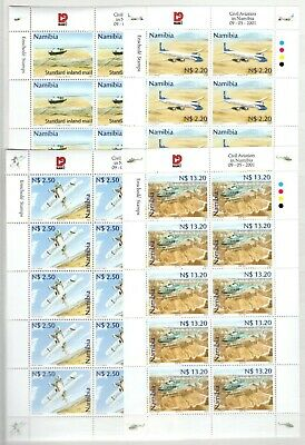 A106541/ Namibia / Planes / Y&t # 927 / 930 (Sheets) Mnh Complete 125 €