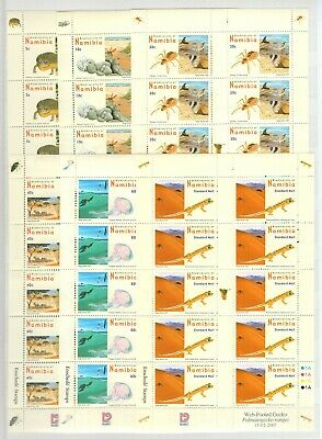 A106545/ NAMIBIA / Y&T # 1097a / 1108a (SHEETS) NEUFS ** / MNH COMPLETE 335 €