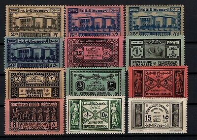 P106596/ French Lebanon / Postage Due / Lot 1931 - 1945 Neuf * / Mh Complete