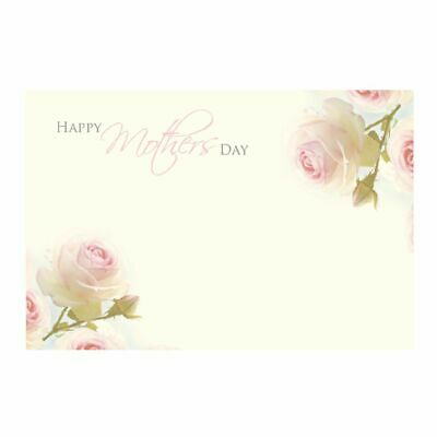 50 Florist Message Cards - Happy Mother's Day - Pink Rose on Cream Background