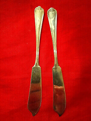 A Pair of Antique/Vintage Silver Plate Butter Knives