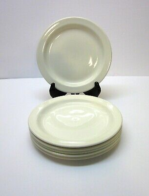 """Stonehenge Midwinter White 7"""" Bread And Butter Plates-England-Set Of 6"""