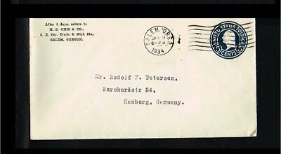 1934 - USA Prepaid cover - Postal stationery - 5 cents [B07_155]
