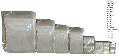 Grip Seal Bags Self Resealable Grip Poly Plastic Clear Zip Lock MIX *All Sizes*