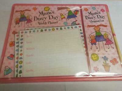 Mum's Busy Day Magnetic Planner + Shopping List. Mothers Day