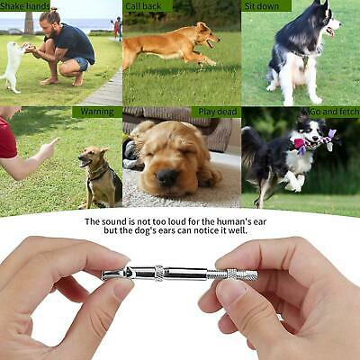 High Frequency Metal Dog Whistle Adjustable Sound Key Ring Puppy Training Collie