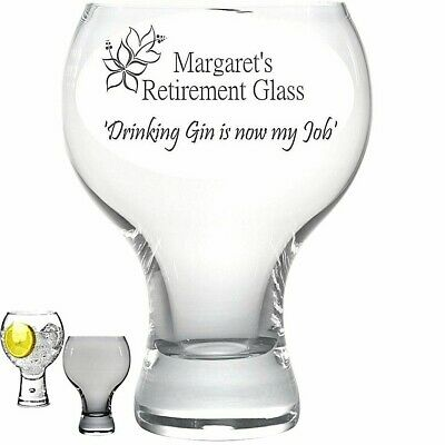 Personalised Engraved GIN glass PINK GIN 63cl Large tall stem classy drunk