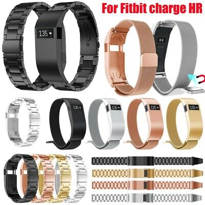 Stainless Steel shell Strap Wrist Band Replacement Bracelet For Fitbit charge HR