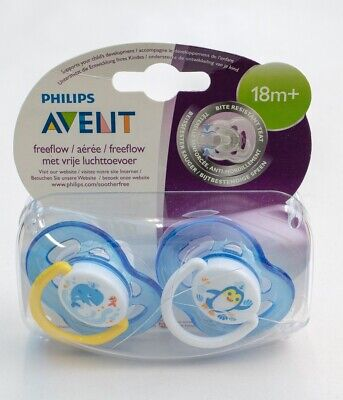 Avent Free Flow Soother Twin Pack - 6-18m **NEW WITH DAMAGED PACKAGING** (D51)
