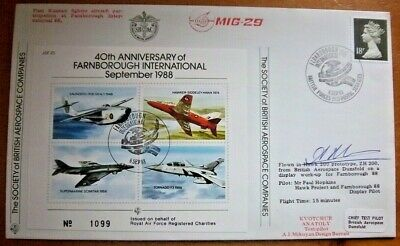 Rare - Jsf25 Special Russian Test Pilot Kvotchur Anatoly Signed Cover - 9/22