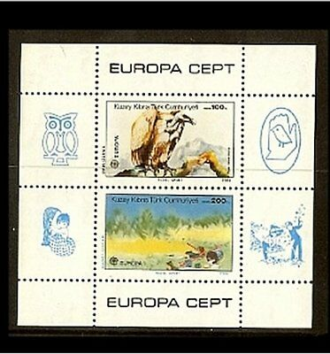 1986 - Europe CEPT Stamps MNH Turkish-Cyprus Mi. Block 5 [A46_122]