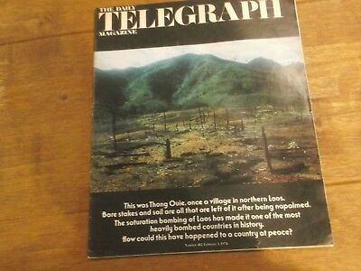 1974 Daily Telegraph Magazine - Laos After Being Napalm Bombed & Steam Trains