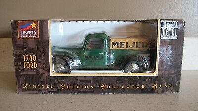 MEIJER'S 1940 FORD PICKUP TRUCK BANK Die Cast Limited Edition NEW