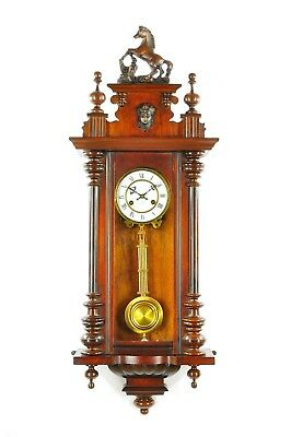 Antique German Junghans Spring Driven Wall Clock approx.1910 Germany