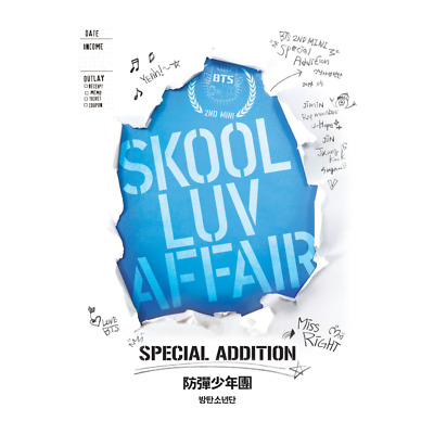 """BTS Skool Luv Affair"""" SPECIAL EDITION """" NORMAL  2 CD + free photo collection"""