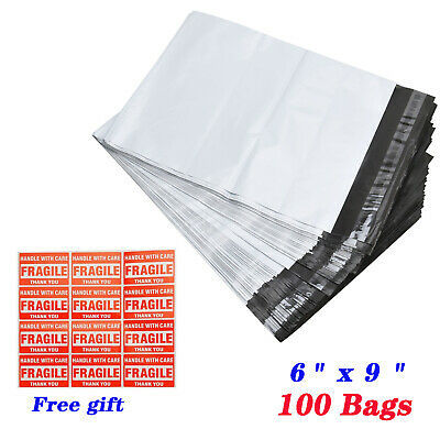 100 6x9 2.5 Mil Poly Mailers Shipping Postal Envelopes Self Sealing Plastic Bags