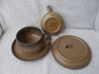 Denby Romany - 2 Soup Cups or Bowls with Saucers