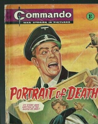 PORTRAIT OF DEATH,COMMANDO WAR STORIES IN PICTURES,NO.120,WAR COMIC,1960's