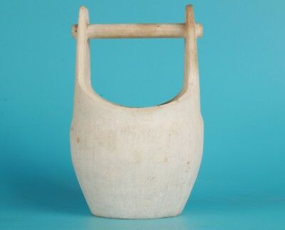 Antique Chinese Jade Basket Bucket Statue Hand-Sanded Home Decoration Gift Colle