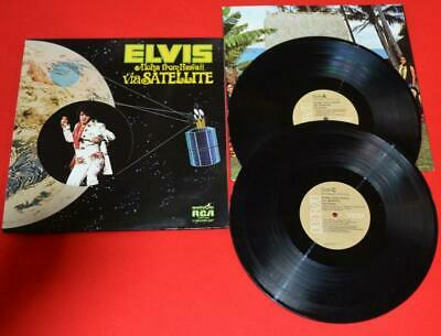 "Elvis ""Aloha From Hawaii"" MEGA RARE TAN LABEL CPD2-2642 1976 Pressing $150+ NM"