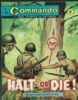 Halt Or Die !,commando War Stories In Pictures,no.389,war Comic,1969