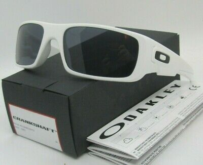 2f237938256 OAKLEY polished white gray CRANKSHAFT OO9239-05 60 sunglasses! NEW IN BOX!
