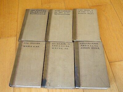 Theodore Roosevelt The Winning of the West  6 Volume book set 1906 Indian Wars +