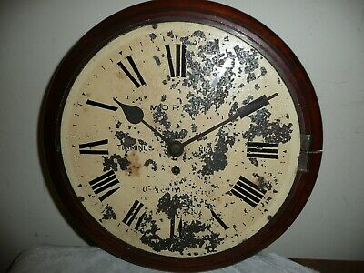 Antique, Fusee Wall Clock For Restoration, Face Signed, Morris, Terminus Place.