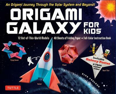 Origami Galaxy for Kids Kit by Rita Foelker Paperback Book Free Shipping!