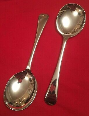 Pair Of Vintage Silver Plated Soup Spoons By Francis Howard c.1930's