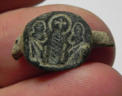 Zurqieh -As10946-  Holy Land. Byzantine Bronze Fragment Of A Ring. 700 A.d