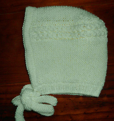 Princess Charlotte Bonnet (0 - 3 Months) Hand Knitted Brand New