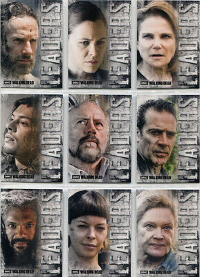 Walking Dead Hunters Hunted Leaders Complete 9 Card Chase Set L-1 to L-9