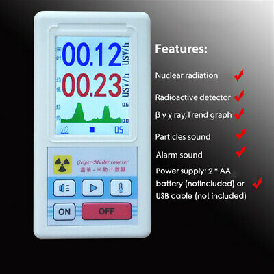 Display Screen Geiger Counter Nuclear Radiation Detector Personal Dosimeter M3X1