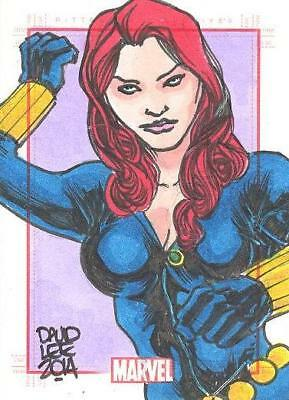 2014 Marvel 75th Anniversary Color Sketch Card SketchaFEX Black Widow David Lee
