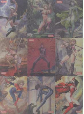 2014 Marvel Dangerous Divas Series 2 Art Of Milo Manara SET of 9! RARE! MINT!