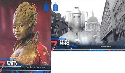 Doctor Who Extraterrestrial Encounters Blue Parallel 2 Matching Number Lot 76/99