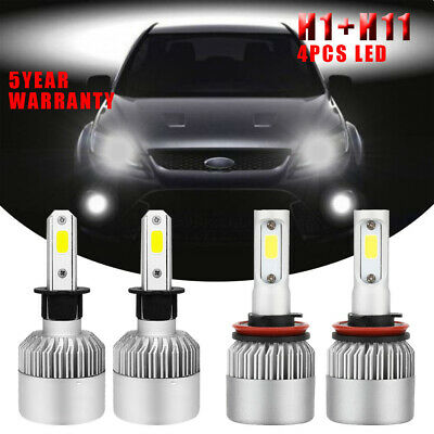 9005 H11 Hi-Lo LED Headlight Bulb Kit 6000K For Ford 15-17 Ford F150 Expedition