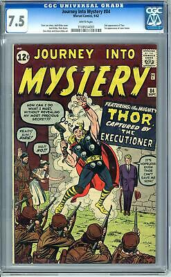 Journey Into Mystery #84 CGC 7.5 (W) 1st Jane Foster 2nd Thor