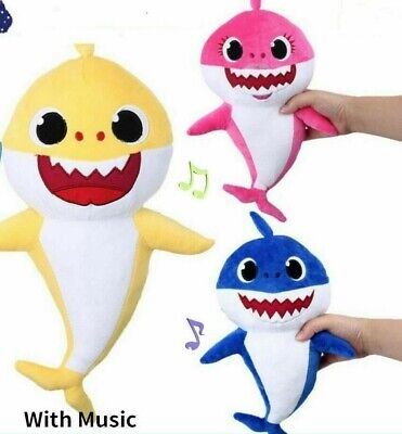 Soft Dolls Baby Cartoon Shark Toys With Music Cute Animal Plush Toy Singing SOLD