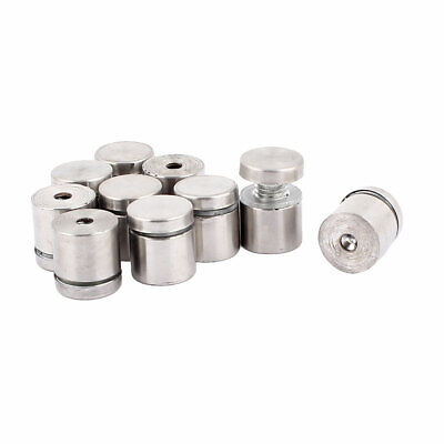 10Pcs Stainless Steel Advertising Nail Glass Standoff Hardware 19 x 20mm