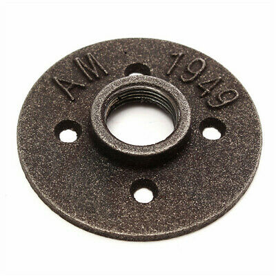 3/4 Inch Black Malleable Iron Floor Flange Fitting Pipe NPT Antique Wall Flange