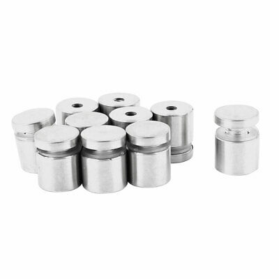 Stainless Steel Hardware Advertising Nail Glass Standoff 19x23mm 10pcs