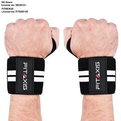 FITAXIS Hand Wraps Wrist Pain Support Straps Bands Gym Brace Crossfit Exercise