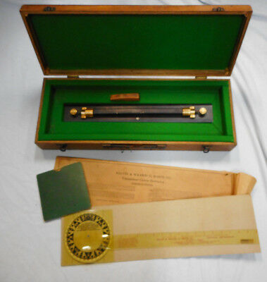 #Nn.   Box  Nautical Protractor And Parallel Rule