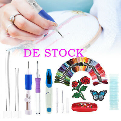 DIY Magic Embroidery Pen Punch Needles Set Sewing Stitch Knitting Craft Tool